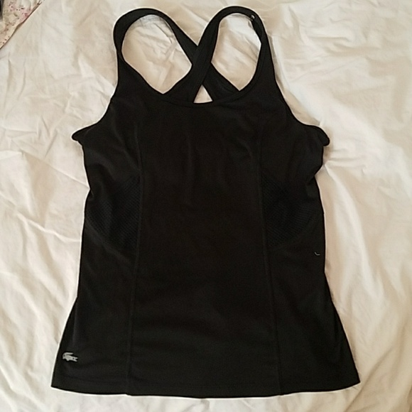 3de656a6bc Lacoste workout tank with built in bra. Size 36